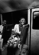 Fela Kuti's Wives on the tour bus - Lagos