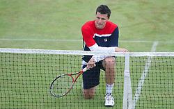 LIVERPOOL, ENGLAND - Saturday, June 22, 2013: Ken Skupski during Day Four of the Liverpool Hope University International Tennis Tournament at Calderstones Park. (Pic by David Rawcliffe/Propaganda)