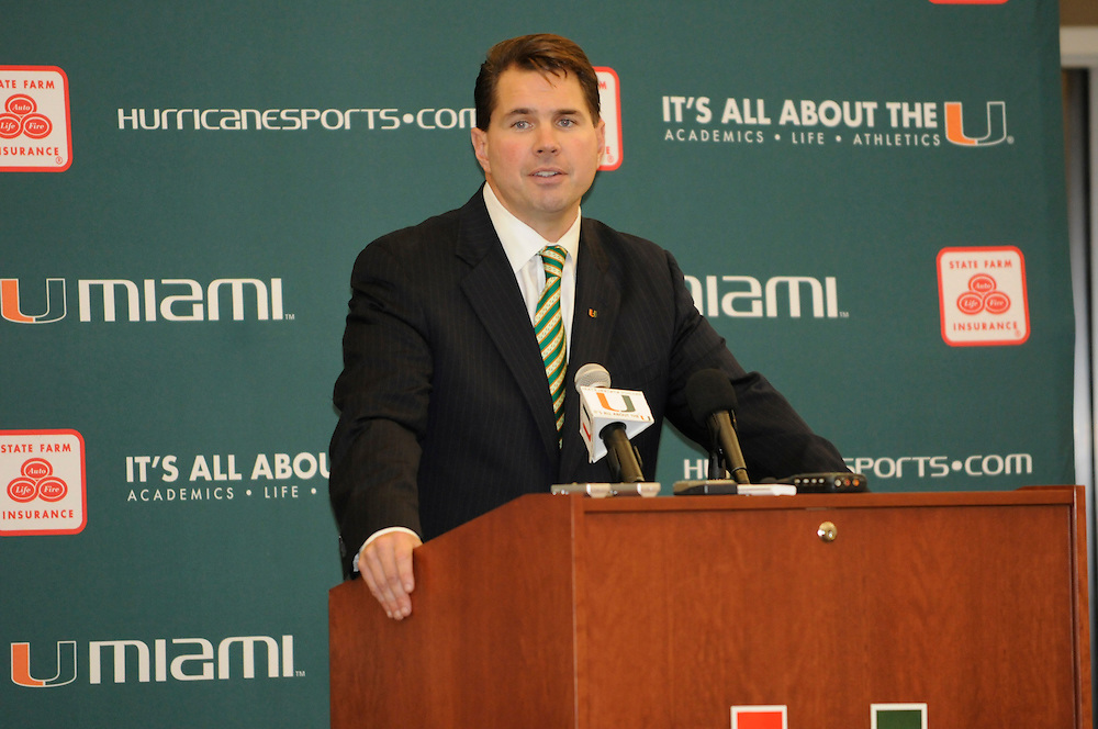 Miami Hurricanes Football - Al Golden Press Conference
