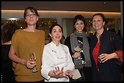 ANNA HANSEN; ELENA ARZAK; ,;HELENA RIZZO; ANGELA HARTNETT,  Veuve Clicquot World's Best Female chef champagne tea party. Halkin Hotel. Halkin St. London SW1. 28 April 2014.