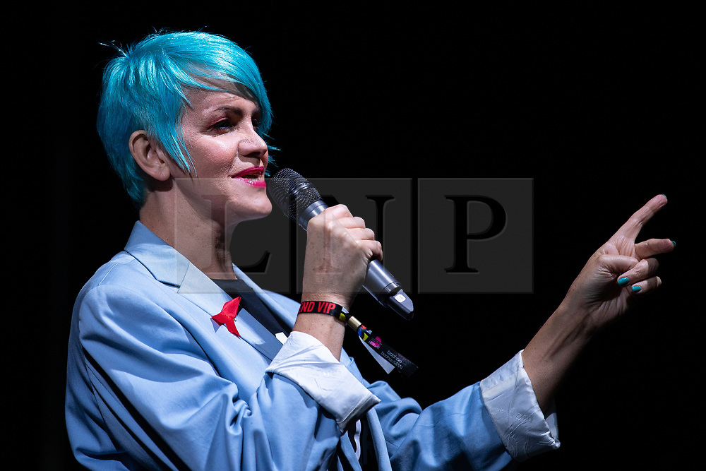 © Licensed to London News Pictures . 26/08/2019. Manchester, UK. KATE O'DONNELL . A candlelit vigil , organised by the George House Trust , in memory of the victims of HIV and AIDS , takes place in Sackville Gardens in Manchester's Gay Village , at the close of 2019's Manchester Pride . Photo credit: Joel Goodman/LNP