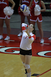 05 November 2010: Laura Wakefield during an NCAA volleyball match between the Southern Illinois Salukis and the Illinois State Redbirds at Redbird Arena in Normal Illinois.