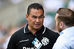 Barbarians Head Coach Pat Lam speaks with Andy Goode during the pre-match warm-up - Mandatory byline: Patrick Khachfe/JMP - 07966 386802 - 27/05/2018 - RUGBY UNION - Twickenham Stadium - London, England - England v Barbarians - Quilter Cup