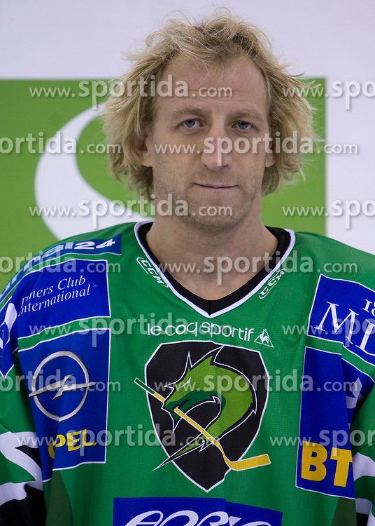 Tomaz Vnuk of HDD Tilia Olimpija before new season 2008/2009,  on September 17, 2008 in Arena Tivoli, Ljubljana, Slovenia. (Photo by Vid Ponikvar / Sportal Images)