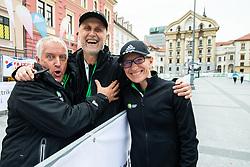 Gojko Zalokar, Andrej Razdrih and Barbara Zeleznik at Fun tek at Volkswagen 23rd Ljubljana Marathon 2018, on October 27, 2018, in Ljubljanaj, Slovenia. Photo by Vid Ponikvar / Sportida