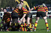 © Peter Spurrier/ Intersport-Images.Photo Peter Spurrier.15/03/2003.Sport - Rugby  National League Div 2 Henley v Harrogate.Rhys Morgan moves the ball from the back of the scrum.