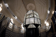 Babylon, NY,  November 7, 2016: ---Shadows cast by the original ten foot first order fresnel lens inside the lens building at the Fire Island Lighthouse.                                              © Audrey C. Tiernan