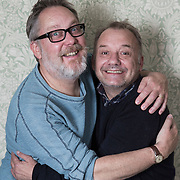 05/06/2015 SUN FEATURES - LEE PRICE<br /> Vic Reeves and Bob Mortimer interview themselves to celebrate 25 years of working together and their first live tour in a long time<br /> <br /> (BRITAIN)<br /> <br /> Neil Hall Photography Ltd<br /> www.neilhallphotography.com<br /> 07766227770<br /> 3 Crown Court<br /> Crown Road<br /> London<br /> N10 2JA
