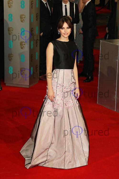 Felicity Jones, EE British Academy Film Awards (BAFTAs), Royal Opera House Covent Garden, London UK, 08 February 2015, Photo by Richard Goldschmidt