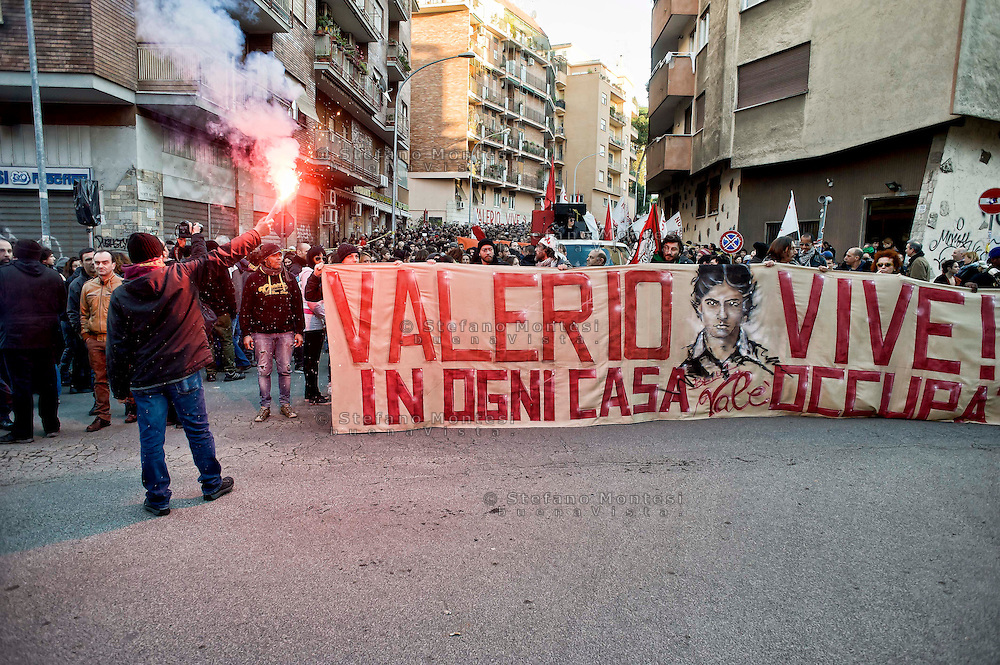 Roma 22 Febbraio 2014<br /> Manifestazione in ricordo di Valerio Verbano, ucciso dai fascisti nella sua abitazione nel 1980.<br /> Rome, February 22, 2014<br /> Demonstration in memory of Valerio Verbano, killed by fascists in his home in 1980