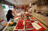 "Lenotre Ecole Culinaire, Paris,..short course - ""Return to the Market"" with Chef Jacky Legras..the ingrediants from the market, at the start of the class..the students decide on the recipes...photo by Owen Franken for the NY Times..July 12, 2007......."