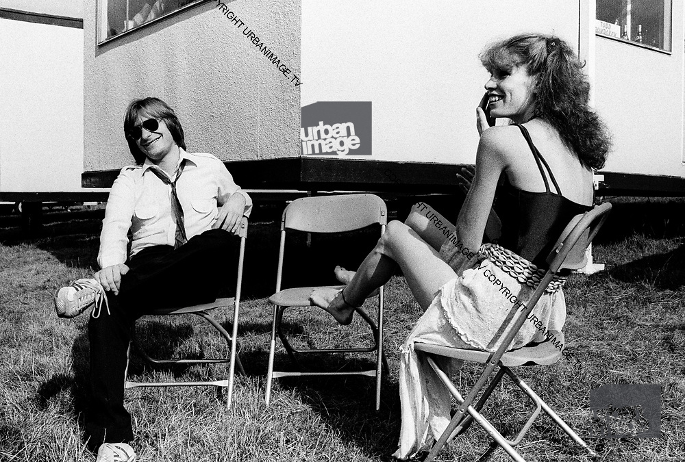 Southside Johnny and friend at the Knebworth Festival 1979