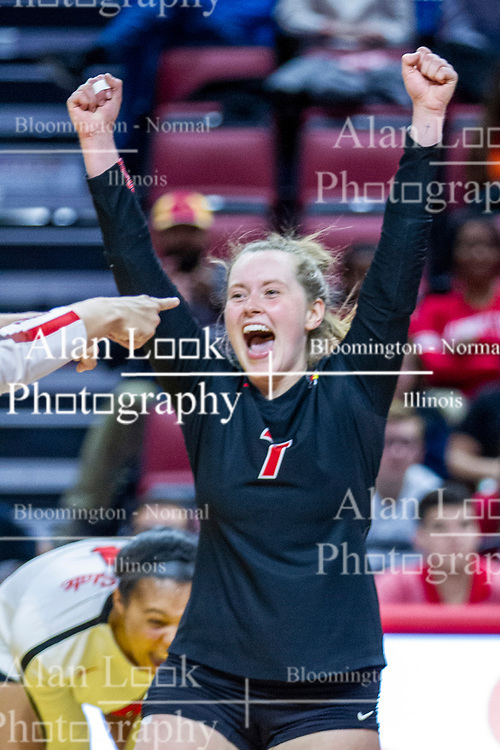 BLOOMINGTON, IL - November 22: Kendal Meier during a college Women's volleyball match between the ISU Redbirds and the Sycamores of Indiana State on November 22 2019 at Illinois State University in Normal, IL. (Photo by Alan Look)