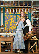 Die Meistersinger von Nurnberg<br /> by Richard Wagner<br /> Welsh National Opera<br /> at the Wales Millennium Centre, Cardiff, Wales<br /> 15th June 2010 <br /> Rehearsal <br /> <br /> Bryn Terfel (as Hans Sachs)<br /> Amanda Roocroft (as Eva)<br /> <br /> <br /> Photograph by Elliott Franks