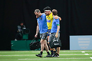 John Ulugia (ASM Clermont) left the game during the French Championship Top 14 Rugby Union match between Racing 92 and ASM Clermont Auvergne on January 7, 2018 at U Arena in Nanterre, France - Photo Stephane Allaman / ProSportsImages / DPPI
