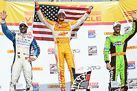 Ryan Hunter-Reay, Tony Kanaan, James Hinchcliffe, Milwaukee IndyFest, Milwaukee Mile, West Allis, WI 06/16/12