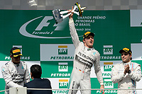 PODIUM - AMBIANCE ROSBERG NICO (GER) - MERCEDES GP MGP W05 - AMBIANCE PORTRAIT<br /> HAMILTON LEWIS (GBR) - MERCEDES GP MGP W05 - AMBIANCE PORTRAIT<br /> MASSA FELIPE (BRA) - WILLIAMS F1 MERCEDES FW36 - AMBIANCE PORTRAIT during the 2014 Formula One World Championship, Brazil Grand Prix from November 6th to 9th 2014 in Sao Paulo, Brazil. Photo Eric Vargiolu / DPPI.