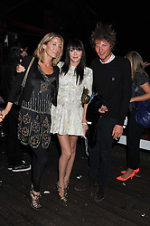 Left to right, LUCIE DE LA FALAISE, ANNABELLE NEILSON and COUNT NIKOLI VON BISMARCK at a party hosted by Rimmel London to celebrate the 10 year partnership with Kate Moss held at Battersea Power Station, London SW8 on 15th September 2011.