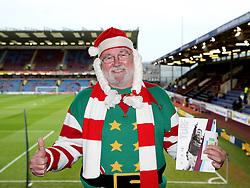 A Bristol City fan wears a Christmas outfit at Turf Moor - Mandatory byline: Matt McNulty/JMP - 07966 386802 - 28/12/2015 - FOOTBALL - Turf Moor - Burnely, England - Burnley v Bristol City - Sky Bet Championship