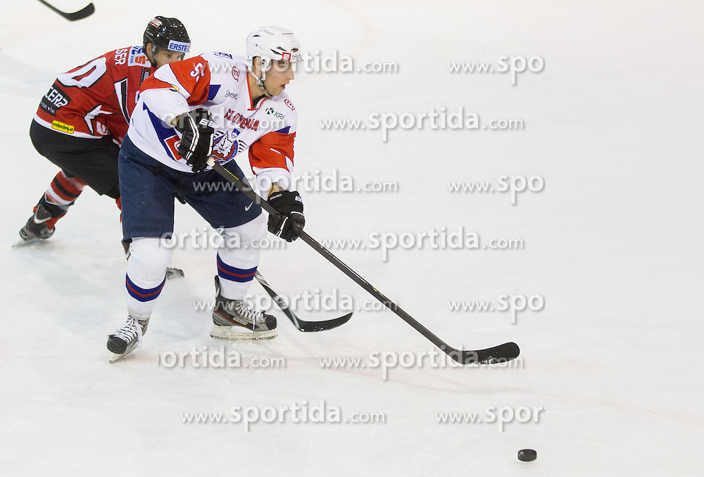 ROBERT SABOLIC of Slovenia during Friendly Ice-hockey match between National teams of Slovenia and Austria on April 19, 2013 in Ice Arena Tabor, Maribor, Slovenia. (Photo By Vid Ponikvar / Sportida)