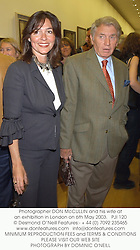 Photographer DON McCULLIN and his wife at an exhibition in London on 6th May 2003.PJI 120