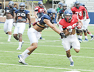 Ole Miss football practice at Vaught-Hemingway Stadium in Oxford, Miss. on Saturday, August 9, 2014.