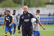 AFC Wimbledon assistant coach Neil Cox taking a training session during the EFL Sky Bet League 1 match between AFC Wimbledon and Shrewsbury Town at the Cherry Red Records Stadium, Kingston, England on 12 August 2017. Photo by Matthew Redman.