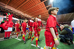 SWANSEA, WALES - Tuesday, March 26, 2013: Wales' Hal Robson-Kanu walks out to face Croatia during the 2014 FIFA World Cup Brazil Qualifying Group A match at the Liberty Stadium. (Pic by David Rawcliffe/Propaganda)
