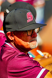 20 May 2019:  Ken Henderson Missouri Valley Conference Baseball Tournament - Southern Illinois Salukis v Illinois State Redbirds at Duffy Bass Field in Normal IL<br /> <br /> #MVCSPORTS