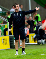 30/07/14 UEFA CHAMPIONS LEAGUE THIRD ROUND QUALIFIER FIRST LEG<br /> LEGIA WARSAW V CELTIC<br /> PEPSI ARENA - WARSAW<br /> Celtic manager Ronny Deila looks on from the dugout.