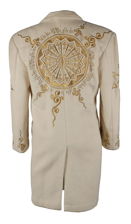 "Prince wardrobe and memorabilia; including Beaded Jacket from 'Under the Cherry Moon' to be auctioned  <br /> <br /> Prince's exquisitely made screen-worn beaded jacket from the 1986 film 'Under the Cherry Moon' will be auctioned by Boston-based RR Auction. <br /> <br /> The stunning lace jacket is covered in intricate, shimmering beadwork and faux pearls, and features a bolero-style front with a long, cape back. The jacket is easily photo-matched to the scene in the film where Prince and Mary are in the convertible under the full moon. <br /> <br /> ""This piece has never been laundered due to the delicate beading, and Prince's makeup is still present on the collar,"" said Robert Livingston, Executive VP at RR Auction. <br /> <br /> Under the Cherry Moon was Prince's second movie as an actor (following Purple Rain), and his directorial debut. The soundtrack—the Parade album—was released to wide acclaim and featured Prince classics including 'Kiss,' 'Mountains,' and 'Girls & Boys.' Boasting ironclad provenance, this is a one-of-a-kind, elaborate wardrobe piece from one of Prince's films of the 1980s.<br /> <br /> The jacket originates from the collection of Prince's assistant, Therese Stoulil.  ""He was an extremely smart, articulate man with a very, very quick wit. He was driven by his creativity—there was always the next record, the next video, the next tour—it was 24/7,"" said Stoulil in a statement posted on the auction house web site.  ""I will treasure those memories as well as the lifelong friendships I have to this day because of Prince and working at Paisley Park,"" added Stoulil.<br /> <br /> ""This is a one-of-a-kind wardrobe piece from one of Prince's films of the 1980's— making it highly collectable,"" said Robert Livingston Executive VP at RR Auction.<br /> <br /> Photo shows: Prince's personally owned and worn Cream Coloured Wool coat<br /> <br /> <br /> Additional highlights include:<br /> <br /> Prince's black-and-white striped bolero jacket designed by Stacia Lang for the 1993 Act II Tour of Europe, made of a fine silk and featuri"