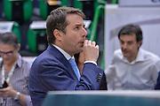 DESCRIZIONE : Beko Legabasket Serie A 2015- 2016 Dinamo Banco di Sardegna Sassari - Olimpia EA7 Emporio Armani Milano<br /> GIOCATORE : Emanuele Aronne<br /> CATEGORIA : Fair Play Before Pregame Arbitro Referee<br /> SQUADRA : AIAP<br /> EVENTO : Beko Legabasket Serie A 2015-2016<br /> GARA : Dinamo Banco di Sardegna Sassari - Olimpia EA7 Emporio Armani Milano<br /> DATA : 04/05/2016<br /> SPORT : Pallacanestro <br /> AUTORE : Agenzia Ciamillo-Castoria/L.Canu