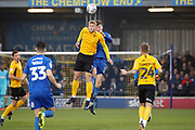 AFC Wimbledon defender Ryan Delaney (21) battles for possession with Southend United attacker Stephen Humphrys (7) during the EFL Sky Bet League 1 match between AFC Wimbledon and Southend United at the Cherry Red Records Stadium, Kingston, England on 1 January 2020.