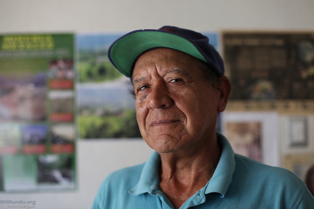 Amadeo de Jesús Rodríguez Aguilar, resident of San Rafael Las Flores, Santa Rosa, and member of the Committee for the Defense of Life. A local anti-mining activist against the operations of Tahoe Resources' El Escobal silver mine, Mr. Rodriguez has been accused of kidnapping security personnel during an October 2011 event where stockholders visited the mining site. The San Rafael Mine, 60% owned by US-based Tahoe Resources and 40% by Canadian mining giant Goldcorp, has been operating since 2011 without having previously consulted the local residents - a violation to numerous international conventions. San Rafael Las Flores, Santa Rosa, Guatemala. March 28, 2012.