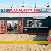 PierBurger opened today at Santa Monica Pier! Menu includes: burgers, veggie burgers, chicken sandwiches, fish sandwiches, frozen custard desserts and more!  PierBurger is located in the previous Surf View Cafe location and adjacent to the restrooms.