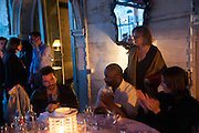 ANRI SALA; THEASTER GATES; CAROLYN CHRISTOV-BAKARGIEV; ;  , Absolut Art Bureau cocktails and dinner to celebrate the announcement of the 2013 Absolut Art Award shortlist. Bauer Hotel, San Marco. Venice. Venice Bienalle. 28 May 2013