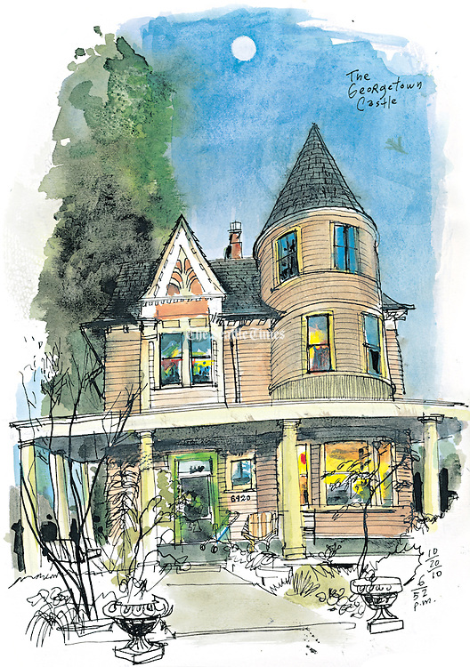 The &ldquo;Georgetown Castle&rdquo; is a highlight of Halloween walking tours organized by the Friends of Georgetown History. <br />
