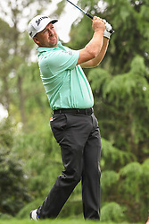 May 5, 2018 - Charlotte, NC, U.S. - CHARLOTTE, NC - MAY 05: Graeme McDowell tees off during the 3rd round of the Wells Fargo Championship on May 05, 2018 at Quail Hollow Club in Charlotte, NC. (Photo by William Howard/Icon Sportswire) (Credit Image: © William Howard/Icon SMI via ZUMA Press)
