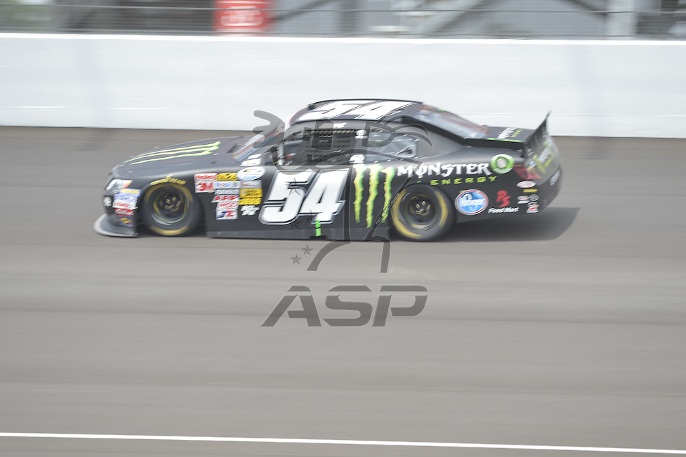 Brooklyn, MI - JUN 16, 2012: race car during a practice session for the Quicken Loans 400 race at the Michigan International Speedway in Brooklyn, MI.