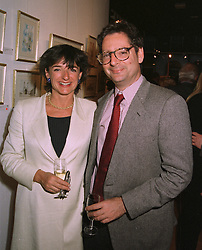 The HON.ROSA LAWSON and her husband the HON.DOMINIC LAWSON, at an exhibition in London on April 15th 1997.LXP 26