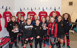Players from Gloucester City LFC visit the home dressing room at Bristol City Women - Mandatory by-line: Paul Knight/JMP - 17/11/2018 - FOOTBALL - Stoke Gifford Stadium - Bristol, England - Bristol City Women v Liverpool Women - FA Women's Super League 1