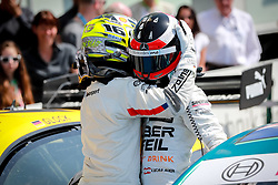 May 5, 2018 - Germany - Motorsports: DTM race Hockenheimring, Saison 2018 - 1. Event Hockenheimring, GER, Lucas Auer ( AUT, Mercedes HWA AG ), Timo Glock, ( D, BMW Team RMG  (Credit Image: © Hoch Zwei via ZUMA Wire)