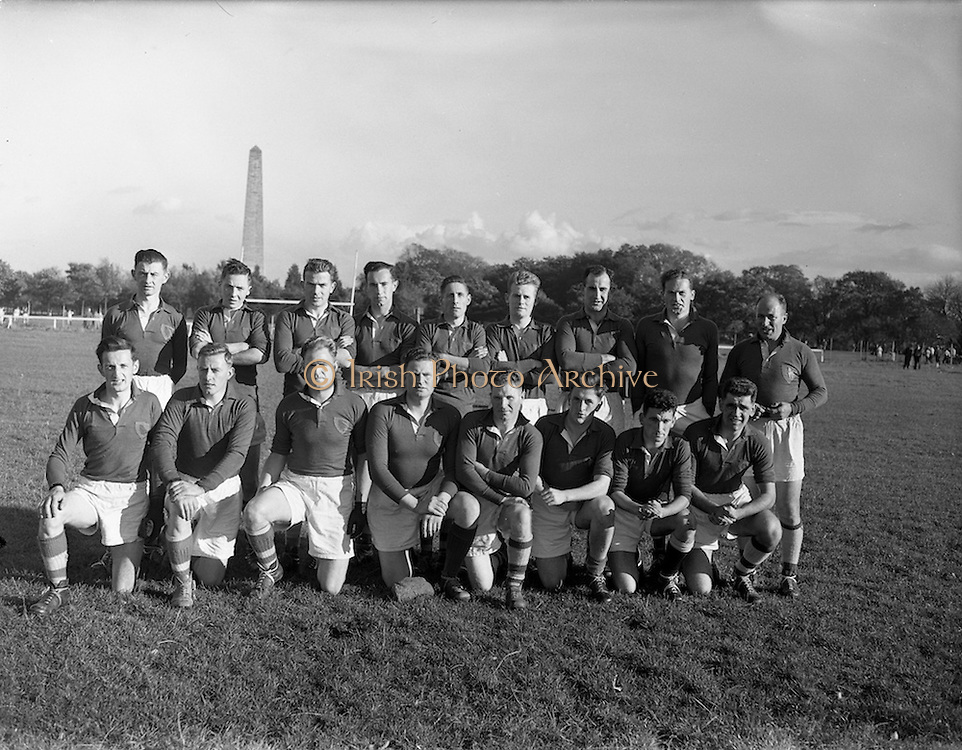 19/10/1957<br /> 10/19/1957<br /> 19 October 1957<br /> All Army Football Championship: Eastern Command v Southern Command at the Phoenix Park, Dublin. The Southern Command team.