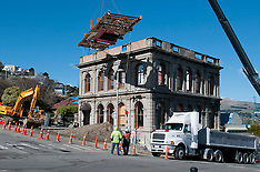Lyttelton-Demolition of last remaining earthquake  buildings