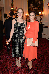 Left to right, CARA THEOBOLD and KATHERINE ROSE MORLEY at the Audi Ballet Evening at The Royal Opera House, Covent Garden, London on 23rd April 2015.
