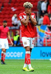 Lloyd Kelly of Bristol City cuts a dejected figure at the final whistle - Mandatory by-line: Nizaam Jones/JMP- 18/08/2018 - FOOTBALL - Ashton Gate Stadium - Bristol, England - Bristol City v Middlesbrough - Sky Bet Championship