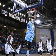 Delaware 87ers Guard Jamal Jones (22) dunks the ball in the first half of a NBA D-league regular season basketball game between the Delaware 87ers and the Texas Legends (Dallas Mavericks) Sunday, Jan. 25, 2015 at The Bob Carpenter Sports Convocation Center in Newark, DEL