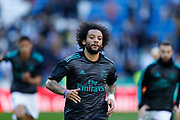 Real Madrid's Brazilian defender Marcelo warms up before the Spanish championship Liga football match between Real Madrid CF and RC Deportivo on January 21, 2018 at Santiago Bernabeu stadium in Madrid, Spain - Photo Benjamin Cremel / ProSportsImages / DPPI