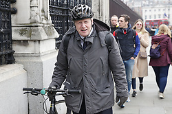 © Licensed to London News Pictures. 08/04/2019. London, UK. Boris Johnson arrives at Parliament. Prime Minister Theresa May will meet with German Chancellor Angela Merkel in Berlin, and French President Emmanuel Macron tomorrow ahead of Wednesday's EU Summit. Photo credit: Peter Macdiarmid/LNP