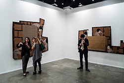 Art Dubai 2014 the leading art fair in the Middle East held at Madinat Jumeirah in Dubai United Arab Emirates